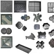 Отходы форм тротуарной плитки ПП